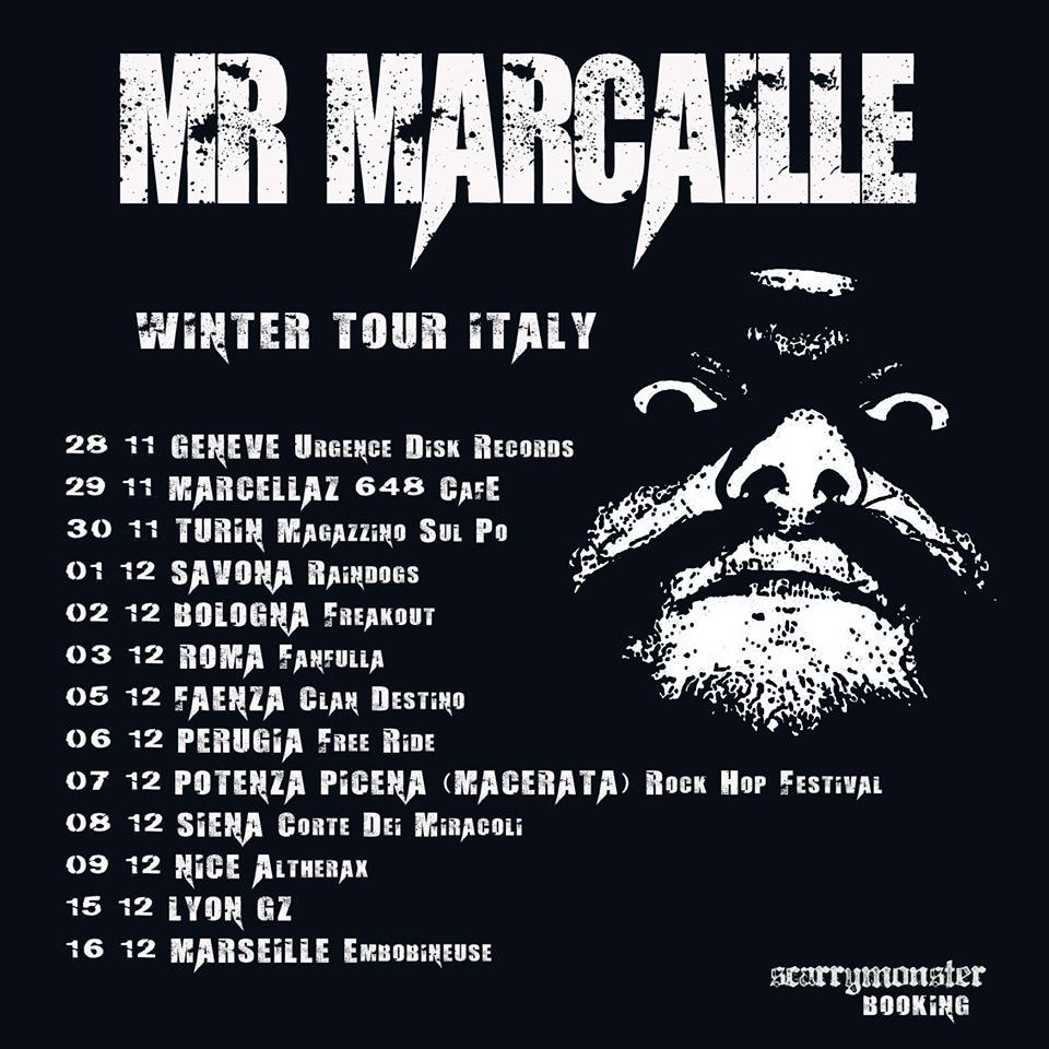 mr.marcaille winter Italia tour 2018